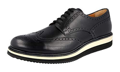 Prada Herren Schwarz Budapester Leder Business Schuhe 2EG116 45 EU/UK 11