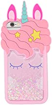 Quicksand Unicorn iPod Touch 7(2019)/Touch 5/Touch 6 Case,Awin 3D Cute Unicorn Dynamic Liquid Bling Glitter Soft Silicone Rubber Case for iPod Touch 5/Touch 6/iPod Touch 7(2019)(Quicksand Unicorn)