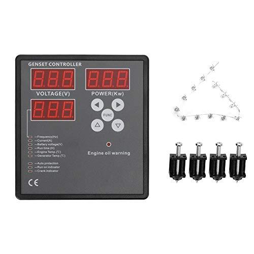 Controlador de grupo electrógeno Pantalla LED de 0,56 pulgadas Panel de PC Módulo de control del grupo electrógeno Regulador de velocidad del motor Gobernador para generador diésel SGC501 con interfaz