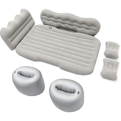 MKKYDFDJ Colchón de aire inflable portátil para coche, cojín de asiento de aire, fila trasera, para viaje, para acampar, viajes, senderismo, viaje