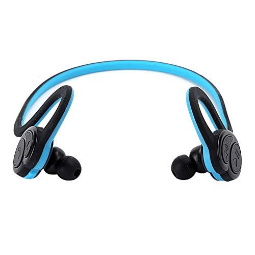 Wosune Auriculares de Collar, Auriculares estéreo portátiles, HV ‑ 600 V4.1 para Deportes de equitación al Aire Libre Correr(Blue)