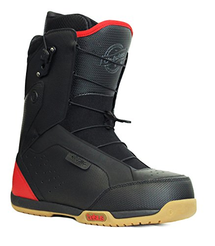 Celsius Men's Cirrus Ozone Speed Lace Snowboarding Boots, Black/Red, 12