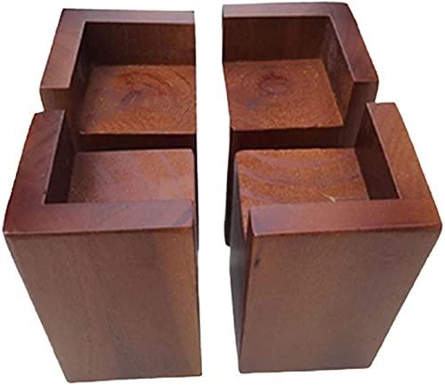 LFERRTYZ Elevador de Muebles de Cama en Forma de L, elevadores de Muebles Resistentes, elevadores de sofá elevadores de sofá elevadores de Mesa, Pino rústico Hecho a Mano