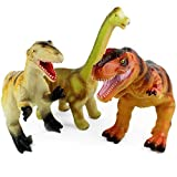 Boley 3 Pack Monster Jumbo 12' Dinosaur Set - Great for Young Kids, Children, Toddlers - Dinosaur Toy Playset Great As Kids Dinosaurs Toys, Dinosaur Party Favors, and Dinosaur Party Supplies!