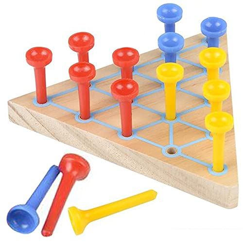 Gamie Peg Game for Kids, Set of 2, Fun Board Games for Kids and Adults, Made of Wood and Plastic, Kids' Learning Toys for Boys and Girls, Unique Games for Family Game Night