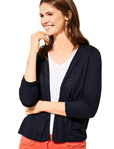 Cecil Damen 315145 TOS Short T-Shirtjacket Strickjacke, deep Blue, X-Large