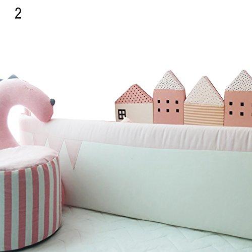 Steellwingsf Kinderschlafmatte für Kinderbett, Kinderbett, Zaun, rose, Einheitsgröße