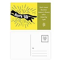 ブラックパンサーの自然動物のシルエット 詩のポストカードセットサンクスカード郵送側20個