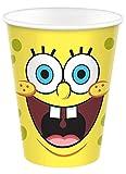 Amscan 582627 - Tazza di carta da 266 ml, motivo: Spongebob, multicolore