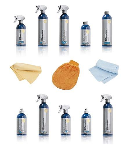 Koch Chemie Mega Set 10 Reiniger + Zubehör für das Auto Innen und Außen Glasreiniger Lackshampoo Felgenreiniger Innenraum Reinigungsmittel Auto