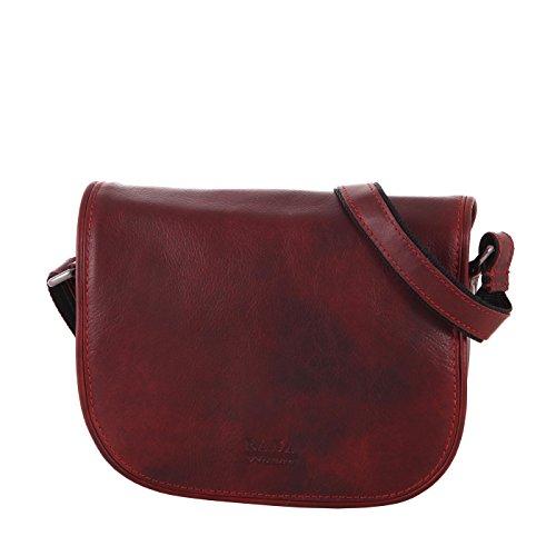 Rada Nature Umhängetasche Damen aus echtem Leder, Vintage Handtasche, Schultertasche mit Innenfutter in verschiedenen Farben