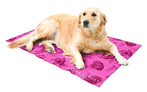 Laura Ashley Therapeutic Cooling Gel Mat Pet Pad in Large 20'x36' (Assorted Colors) (Cranberry)