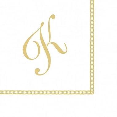 Entertaining with Caspari Monogram Initial K Paper Cocktail Napkins, Pack of 20