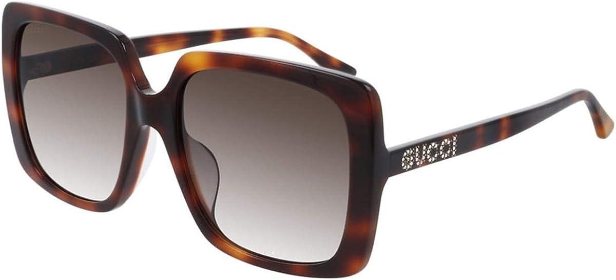 Gucci Gafas de Sol GG0728SA Havana/Brown Shaded 57/18/145 mujer