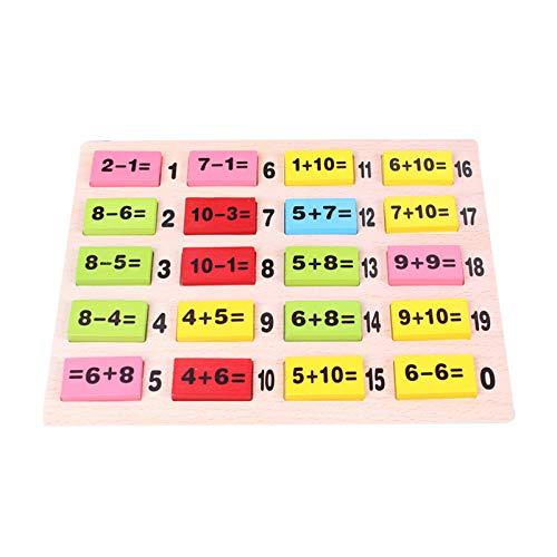 QZPM Juguetes Educativos Juegos Matematicos para Niños Juguetes De Los Niños Los Cálculos De Educación Inicial Educación Número Juguetes De Número Madera