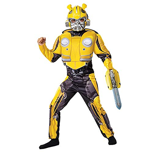 Bumblebee Transformers Movie Classic Costume Plus The Stinger Sword Accessory Bundle for Kids