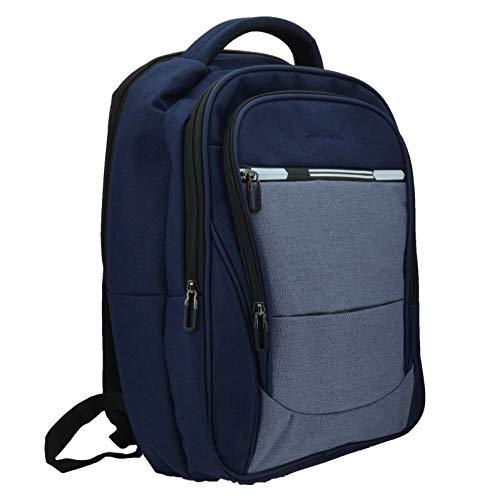 Pierre Cardin, Herrenrucksack, für Laptop-PC, Laptop-Anschluss 15,6/17 Zoll, mit USB-Anschluss, für Arbeit, Reisen und Universität Blu 4 cerniere -