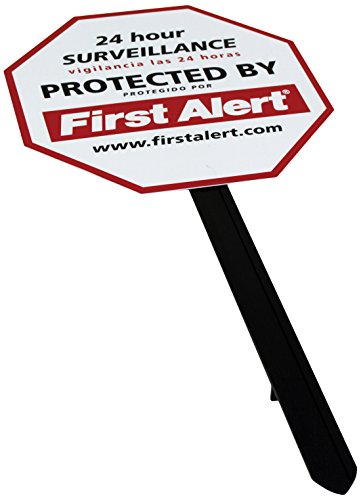 FIRST ALERT YS-1 Video Security Surveillance Yard Sign, White