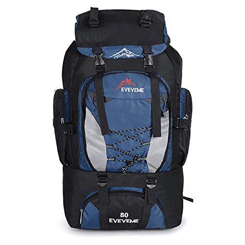 NYWENY Reiserucksack Bergsteigen Tasche Langlebig und Praktisch Camping Tasche Outdoor Jagd 7cm Wasserdicht 80L Nylon Taktischer Rucksack