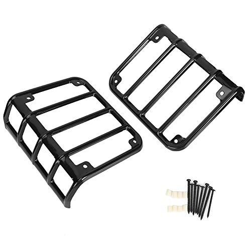 Rücklichtschutz, einfach zu montierende korrosionsbeständige verschleißfeste Rücklichtabdeckung, für Rückleuchte passend für Jeep Wrangler JK 2007-2017(black)