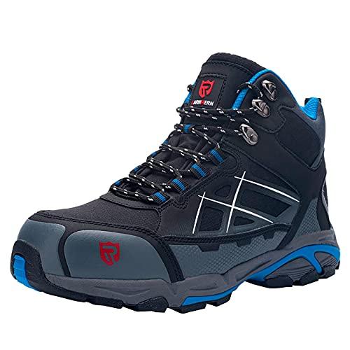 Zapatos de trabajo de seguridad con puntera de acero HOUJIA,zapatos de seguridad S1P SRC ESD altos,antipinchazos,reflectantes,antideslizantes,antiestáticos,Zapatos de Seguridad Zapatos de construcción