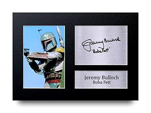 HWC Trading Jeremy Bulloch A4 Ungerahmt Signiert Gedruckt Autogramme Bild Druck-Fotoanzeige Geschenk Für Star Wars Boba Fett Filmfans