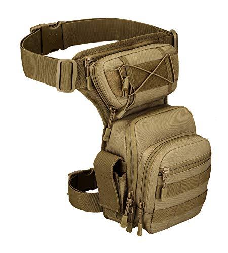 Yakmoo X5 Combate Bolsa de Pierna de Múltiple Función Estilo Militar Táctico Impermeable Riñonera para Herramientas Bolso de Cintura al Aire Libre