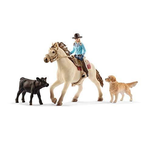 Schleich 42419 Farm World Spielset - Westernreiten, Spielzeug ab 3 Jahren