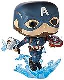 Funko- Pop Marvel: Endgame-Captain America w/BrokenShield & Mjolnir CAPT A w/BrokenShield&Mjolnir Collectible Toy, Multicolore, 45137