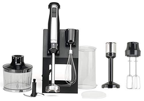 KeMar Kitchenware KSM-800 Stabmixer | Erweiterungsset | 800 Watt | Titan Klinge | Ständer