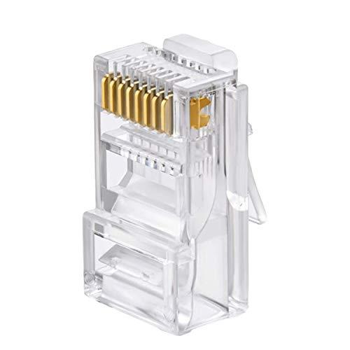 SEAFON Conector Rj45 Cable Red Utp Cat 5e Paquete 100 Piezas