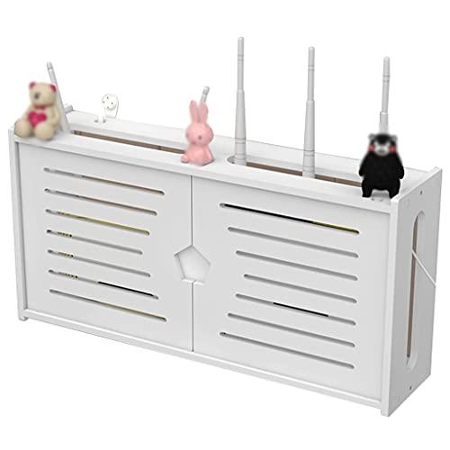 Router rack Soporte de Pared para enrutador, Estante de Pared Flotante para Cortinas, Organizador de Caja de Almacenamiento WiFi, Protector de Tira de alimentación (Size : 48×11.5×24cm)