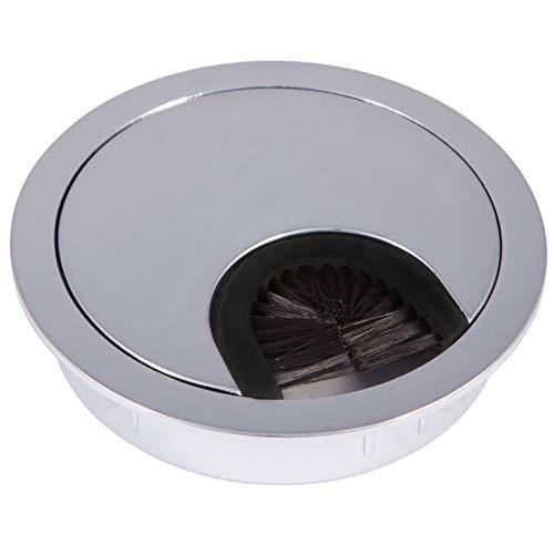 2 Stück SO-TECH® Kabeldurchlässe Schreibtischdurchlass aus Metall Chrom poliert ! Bohrmaß Ø 60 mm !