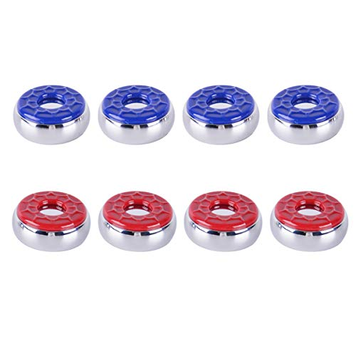Naissgo Shuffleboard Pucks 2-1/8'(53mm) or 2-1/4''(58mm), Shuffleboard Table Pucks Set of 8(red&Blue) (2-1/8''(53mm))