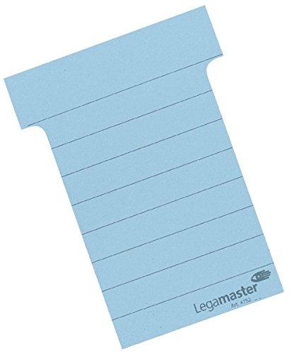 Legamaster 7-475203 T-Karten, Karton, 100 Stk.., 61 x 83 mm, blau