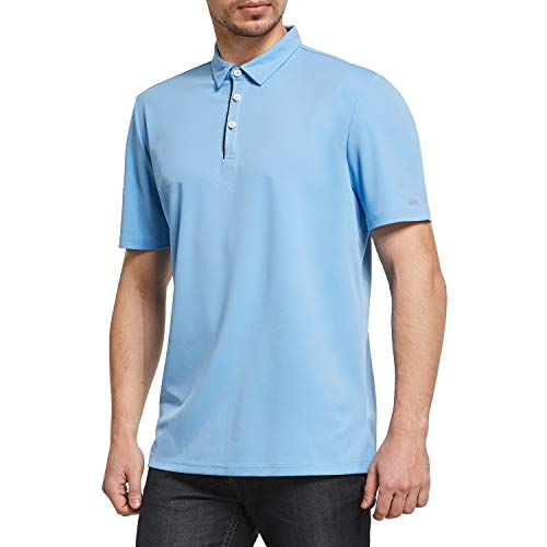 Ogeenier Polo Homme Manche Courte Sport Golf Tee Shirt Protection Solaire Anti-UV UPF 50+