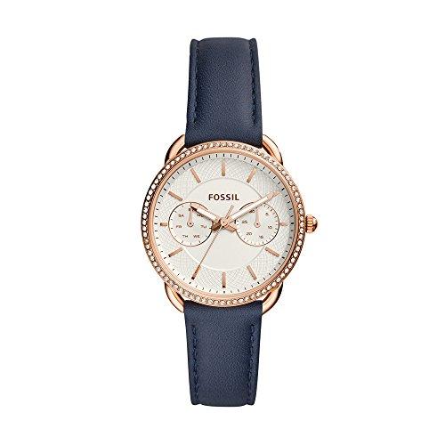 Fossil Damen Multi Zifferblatt Quarz Uhr mit Leder Armband ES4394