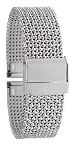 Eichmüller - Cinturino in acciaio inox massiccio, 22 mm, colore: argento