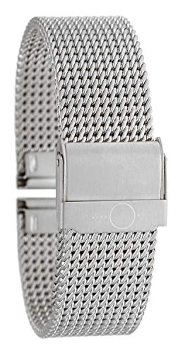Eichmüller massives 20mm BandOh Edelstahl Milanaise Uhren Armband silberfarbig