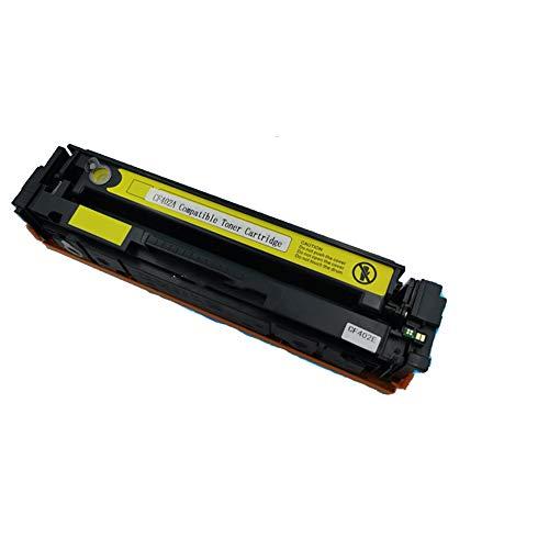 Compatible para HP CF400A 201A Cartucho de tóner de repuesto para HP Color Laser Jet M252dw M252n MFP M277dw M277n M274n, con chip-yellow