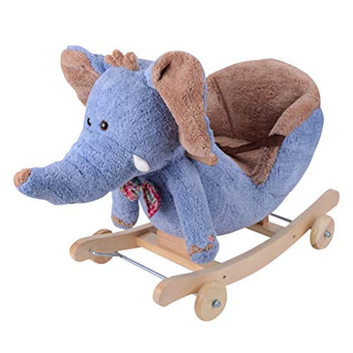 Great Features Of Rocking horse Indoor Wheeled Children's Music Rocking Chair Aged Children's Day Gi...