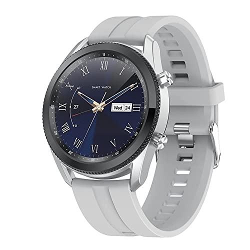 ZGZYL L61 Bluetooth Call Smart Watch con Presión Arterial Y Monitoreo De Ritmo Cardíaco Watch Men's Fitness Watch Reloj De Cronómetro Podómetro Sports Reloj Deportivo,A