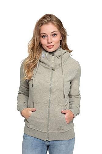 Zhrill Damen Zip Hoodie Kapupzenjacke Sweatjacke Fenja, Größe:XS, Farbe:T8091 - Olive