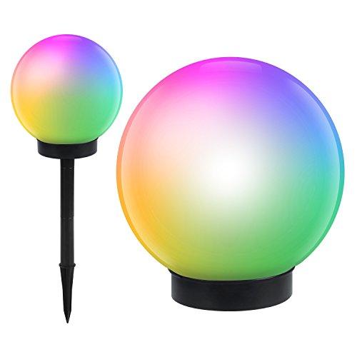 Green Blue GB122 Lampe solaire LED pose libre lampe de jardin - balle exterieur etanche au sol sanse fil eclairage (15x15couleur)