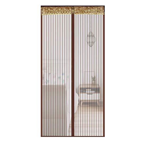 Magnetische horren voor ramen, voor balkondeur, terrasdeur, kelderdeur, woonkamer 80x220Cm(31x87Zoll) koffie