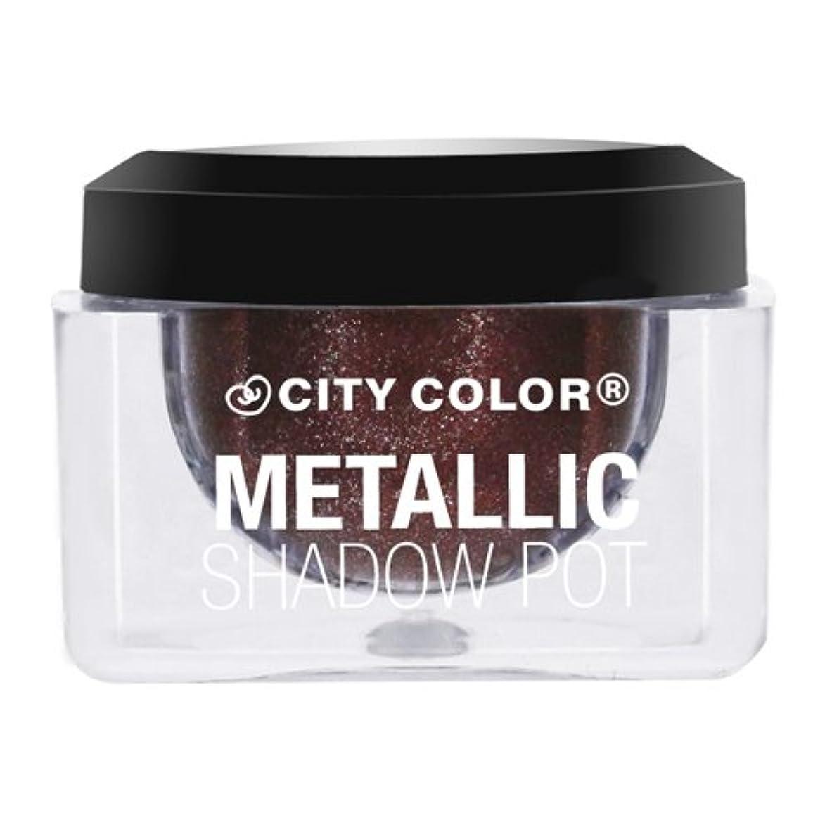 かわす鋼追跡(3 Pack) CITY COLOR Metallic Shadow Pot - Nebulla (並行輸入品)