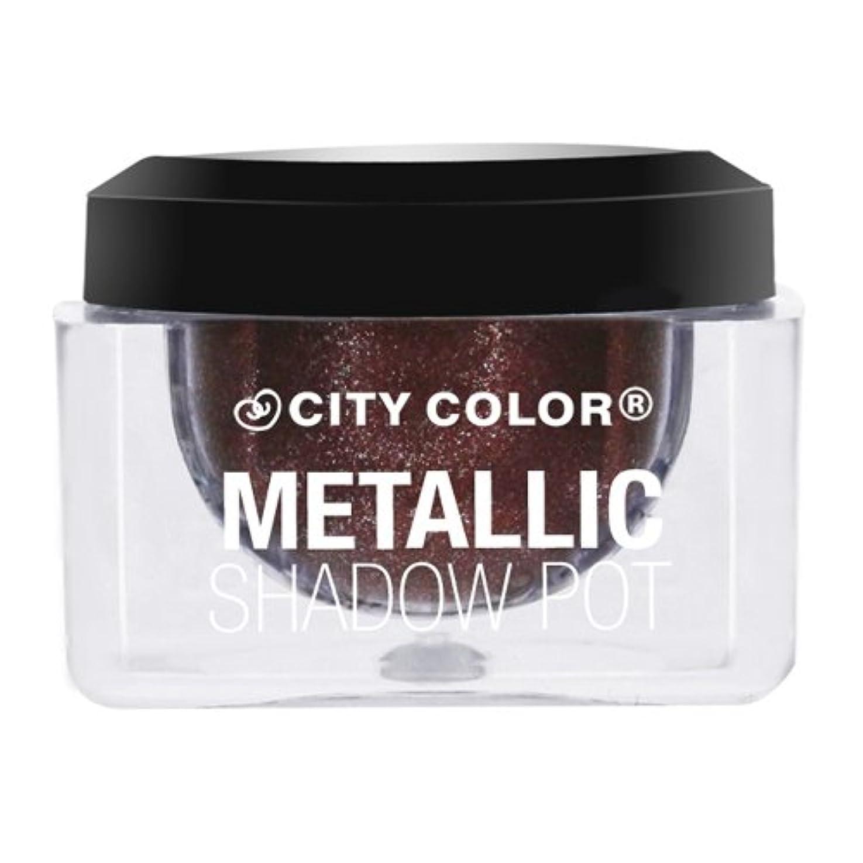 連想衝動トイレ(6 Pack) CITY COLOR Metallic Shadow Pot - Nebulla (並行輸入品)