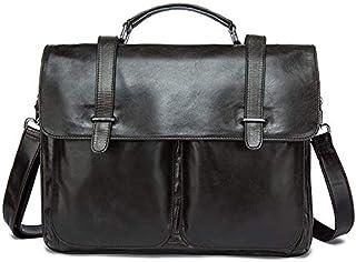 Mens Leather Business Briefcase Men's Messenger Bag Leisure Tote Handbag for 13 Laptop (Color : Black) Elise (Color : Gray)