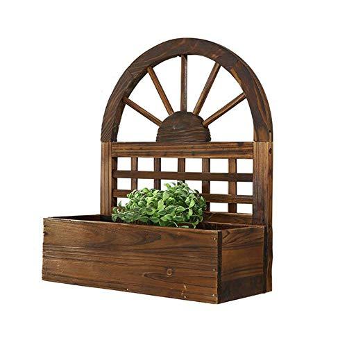 ZXL Plant Bloemenstandaard, Wandmontage Houten Bloemenstandaard (38 * 12 * 45CM), Klimmen Wijnstok Plant Hek Bloempotten Houder voor Binnen Balkon Woonkamer