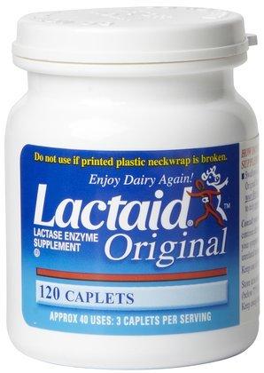 Lactaid Original Lactase Enzyme Supplement Caplets-120ct (Quantity of 2)